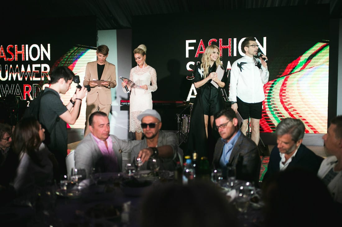 Ведущие церемонии Fashion TV FSA 2016 Влад Лисовец и Виктория Гилварг, Катя Гусева и Александр Анатольевич